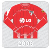 Camisa de Goleiro São Paulo FC - Reebok - 2006 - LG - Conmebol