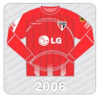 Camisa de Goleiro São Paulo FC - Reebok - 2006 - LG - Conmebol - FAST